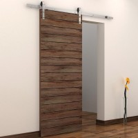 WinSoon 5-16FT Sliding Barn Door Hardware Single Door Stainless Track Kit