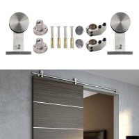 WinSoon 5-16FT Sliding Barn Door Hardware Single Wood Door Stainless Track Kit