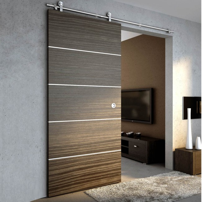 Winsoon 5 16ft Sliding Barn Door Hardware Single Wood Door Stainless