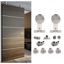 WinSoon 5-8FT Sliding Barn Door Hardware Stainless Single Wood Door Track Kit