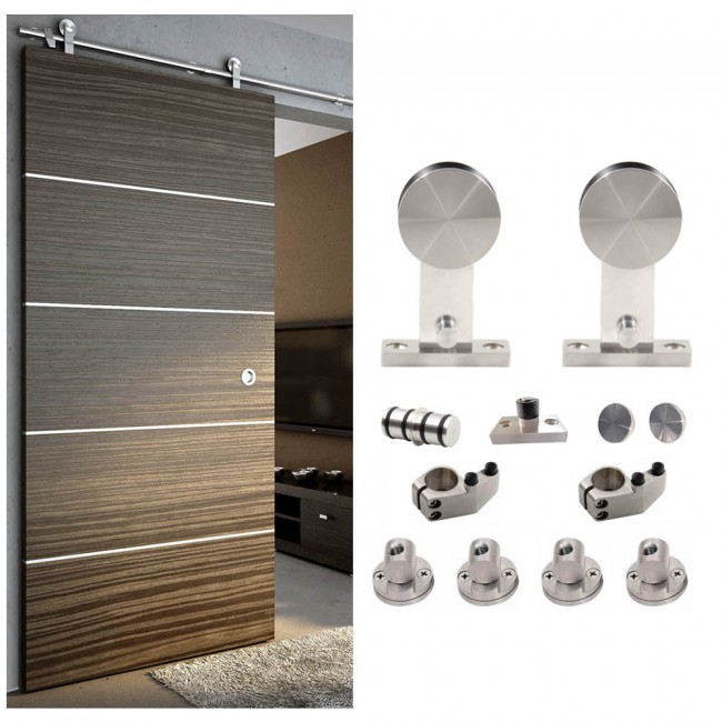 WinSoon 5-16FT Sliding Barn Door Hardware Single Wood Door Stainless Track Kit  sc 1 st  WinSoonHardware : barn door track - pezcame.com