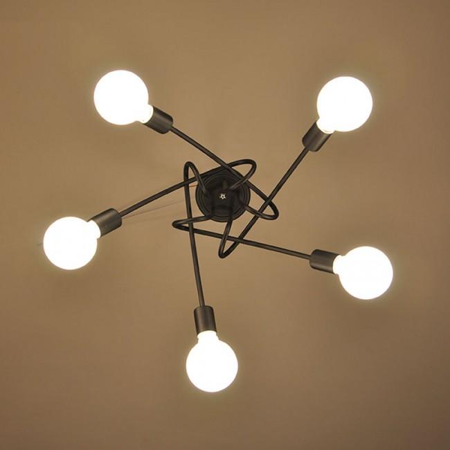 WinSoon 5 Heads Modern Pendant Ceiling Lamp Hanging Chandelier ...