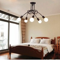 WinSoon 5 Heads Modern Pendant Ceiling Lamp Hanging Chandelier Lighting Fixture
