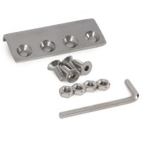 WinSoon 8-16FT Double Sliding Barn Door Hardware Stainless Track Kit Bent Straight Barn Door Hardware