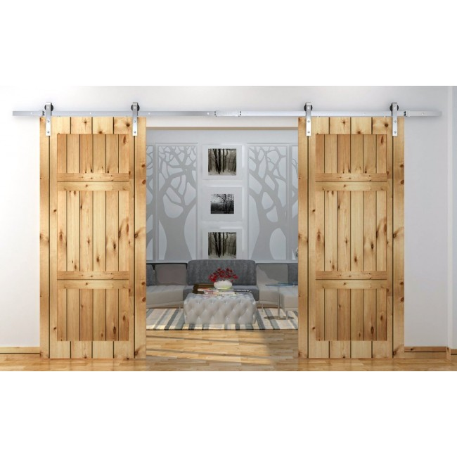 Winsoon 5 16ft Sliding Barn Door Hardware Double Doors Stainless