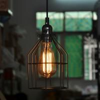 WinSoon Antique Iron Cage Edsion Design Pendant Light Room Lighting