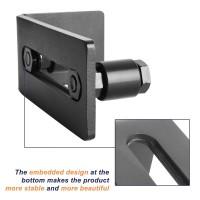 WinSoon Barn Door Hardware Multifunctional Bottom Floor Guide Wall Guide Adjustable Screws
