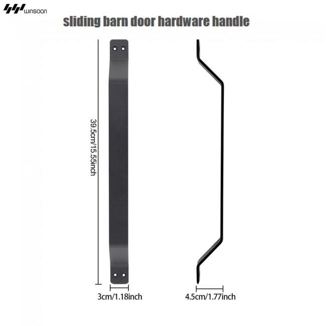 WinSoon Big Size Black Iron Gate Shed Pull Door Handle Sliding Barn Door  Hardware