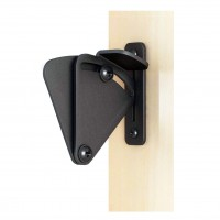 WinSoon Big Size Pull Door Black Solid Cast Cron Sliding Barn Door Gate Lock Door Latch