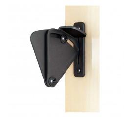 WinSoon Big Size Pull Door Black Solid Cast Cron Sliding Barn Door Gate Lock Door Latch