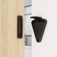 WinSoon Big Size Pull Door Black Solid Cast Cron Sliding Barn Door Gate Lock Door Latch All Products