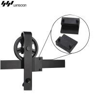 WinSoon Black Antique Roller Kit for Sliding Barn Door Hardware System (Big Black Wheel) All Products