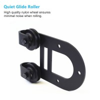 WinSoon Black Antique Roller Kit for Sliding Barn Door Hardware System (Horseshoe Design) All Products