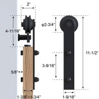 WinSoon Black Antique Roller Kit for Sliding Barn Door Hardware System (Straight Design) All Products
