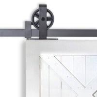 WinSoon Black Antique Roller Kit for Sliding Barn Door Hardware System Wheel