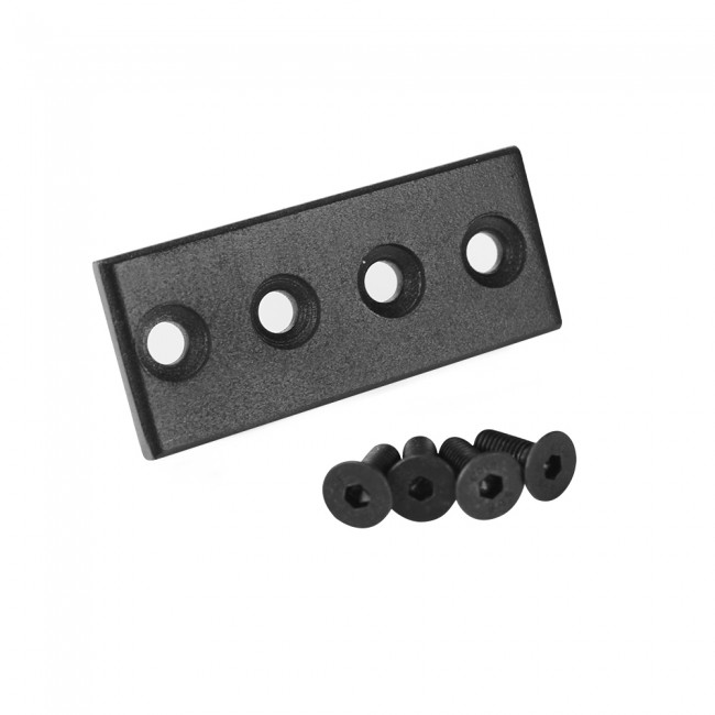 Winsoon Black Junction plate Connector Device For Flat Rail Sliding Barn door Hardware