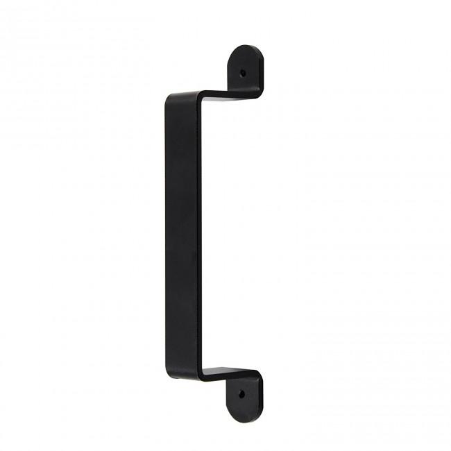 Winsoon Black Rustic Garden Gate Shed Pull Door Handle For Sliding Barn Door Hardware Kit