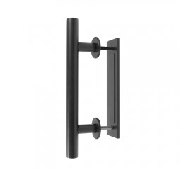 Door Handle Black Steel Pull Vertical Flush