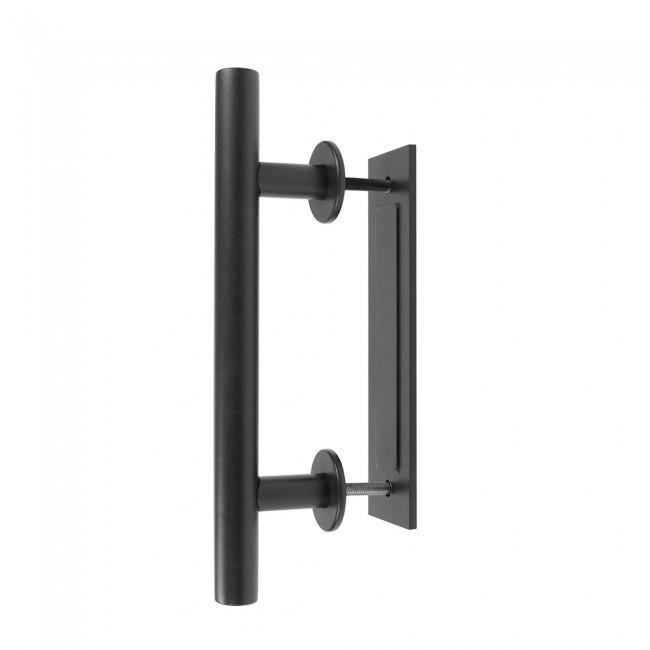 Winsoon Black Steel Door Handle For Sliding Barn Wood Hardware Closet Pull Vertical Flush 2493 650x650 Jpg