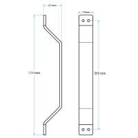 "WinSoon Black Steel Sliding Barn Door Handle 8.9""L X 1.1""W X 1.65""H All Products"