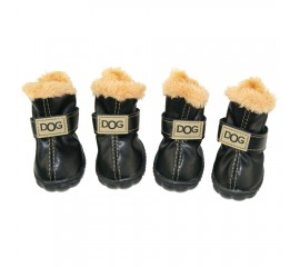 Winsoon Black Winter DOG Australia Booties Snow Boots Sneakers Shoes for Puppy XS Small Dogs S M L