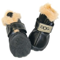 Winsoon Black Winter DOG Australia Booties Snow Boots Sneakers Shoes for Puppy XS Small Dogs