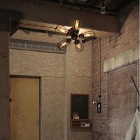 WinSoon Country 5 Heads Industrial Rustic Flush Mounted Ceiling Light Wall Lamp All Products