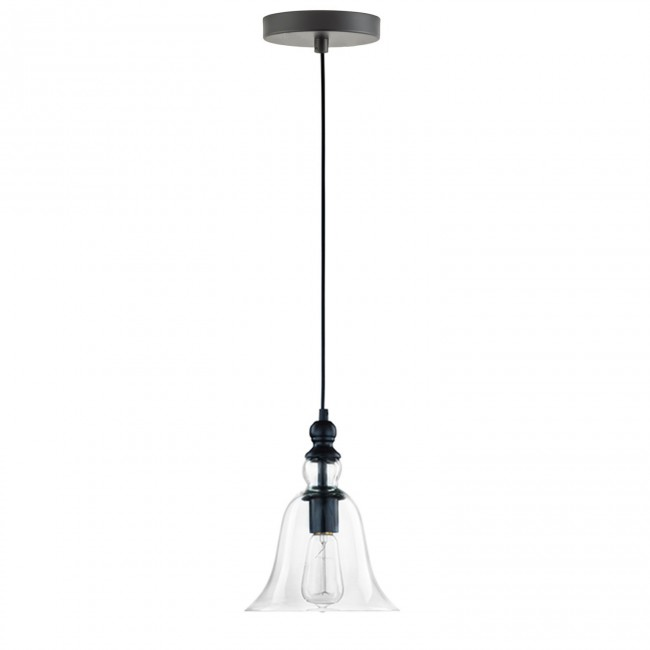 WinSoon 1 Light Vintage Hanging Big Bell Glass Shade Ceiling Lamp ...