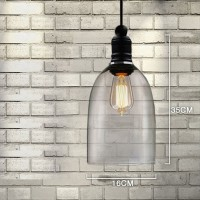 WinSoon Ecopower 1PC Ceiling Pendent Light Antique Big Bell Glass Shade All Products