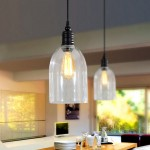 WinSoon Ecopower 1PC Ceiling Pendent Light Antique Big Bell Glass Shade