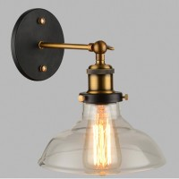 WinSoon Edison Wall Mount Light Sconces Aged Steel Finish Glass(D) All Products