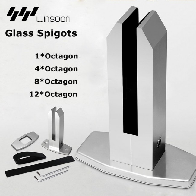 WinSoon Frameless Glass Spigots Balustrade Fence Fencing Clamp Spigot Octagon Mount All Products