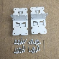 Winsoon Gate Hinges Self-Closing for Vinyl and PVC Fences with Latch White Color