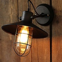 WinSoon Harbor Sconce Industrial 1PC Wall Light Warehouse Edison Vintage Bulb