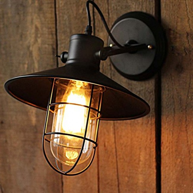 Winsoon Harbor Sconce 1pc Wall Light Warehouse Edison Vintage Bulb All Products