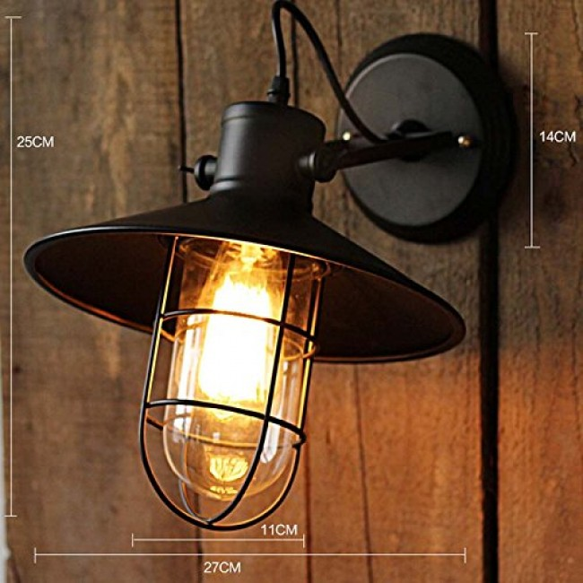 WinSoon Harbor Sconce Industrial 1PC Wall Light Warehouse