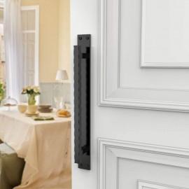 Winsoon heavy duty big size black steel wave door handle for sliding barn door hardware