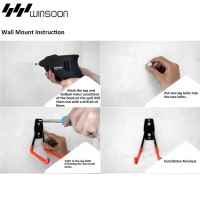 WinSoon Heavy Duty Utility Hook Clip Hook U-Hook 2pcs/4pcs (Small Black)