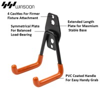 WinSoon Heavy Duty Clip Hook U-Hook Utility Hook 2pcs/4pcs (Small Orange Regular)