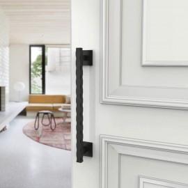 Door handle black steel