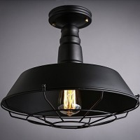 WinSoon Industrial Ceiling Light Style Bar Loft Metal Art Painted Finish All Products