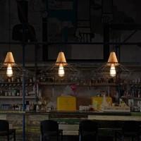 WinSoon Industrial DIY Metal Ceiling Lamp Light Vintage Pendant Lighting Wooden Head All Products