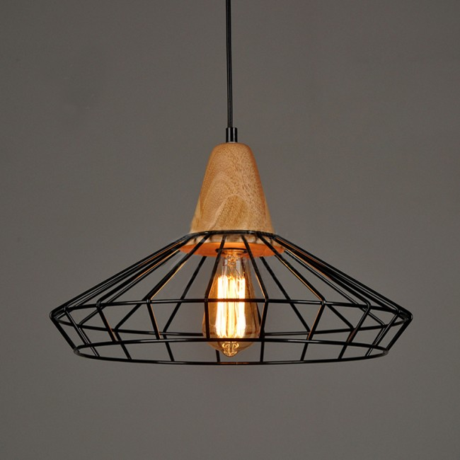 Winsoon industrial diy metal ceiling lamp light vintage for Ceiling lamp wood
