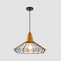 WinSoon Industrial DIY Metal Ceiling Lamp Light Vintage Pendant Lighting Wooden Head All Products