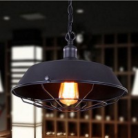 WinSoon Industrial Edison Style Bar Loft Metal Fan Fixture Art Painted Finish(Black)