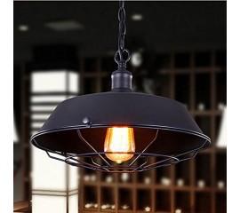 WinSoon Industrial Edison Style Bar Loft Metal Fan Fixture Art Painted Finish(Black)