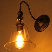 WinSoon Industrial Edison Wall Mount Light Lamp  Steel Finished Bell Glass All Products