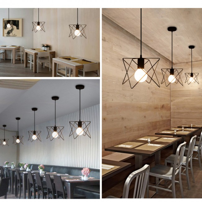 Winsoon industrial mini edison ceiling pendant light style bar loft winsoon industrial mini edison ceiling pendant light style bar loft metal cage art painted all products aloadofball Gallery