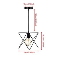 WinSoon Industrial Mini Edison Ceiling Pendant Light Style Bar Loft Metal Cage Art Painted All Products