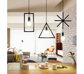 WinSoon Industrial Mini Edison Pendant 1 Light Style Bar Loft Iron Art Painted Finish
